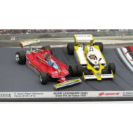 Ferrari 312 T4 Gilles Villeneuve #12 STEERING WHEELS + Renault RS12 Renè Arnoux #16 G.P. France 1979