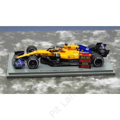 CARLOS SAINZ JR._2019_McLaren_MCL34